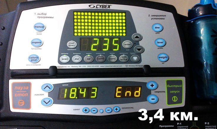 Вчерашняя пробежка на дорожке, подняла настроение💃. Плохое настроение, иди на тренировку👍) После провела танцевальное занятие, первый раз, знаете, мне понравилось и люди позитивные пришли) До дорожки была спина в тз. Пробежки по плану - 3 раза в неделю пока по 3 км, у меня все равно больше 3 км получается) Готовлюсь пробежать 10 км. на время) Кто со мной?😉 #run #veranazemnova #forma73 #тренер#танцы#dance#бег #ulsk @fitself @veranazemnova