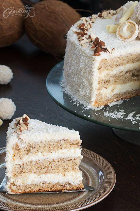 Almond Coconut Cake (Raffaello cake)-2