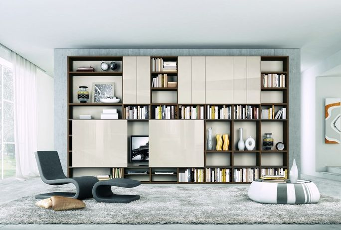 Home library design with modern interior decoration. For those of you who love books get a personal public library to your home architecture