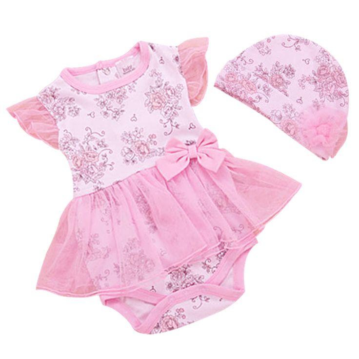 Летний костюм принцессы для новорожденных, боди +шапка для девочек, младенческая печать, набор Картеры из хлопка, бренд Bebe одежда для новорожденных купить на AliExpress
