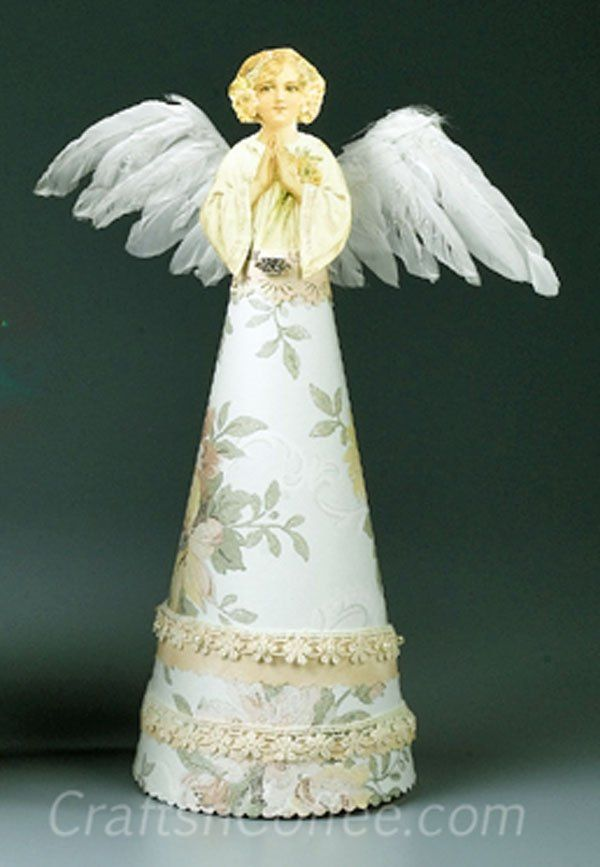 hark it s a roundup of eight angel crafts for christmas On craft angels to make