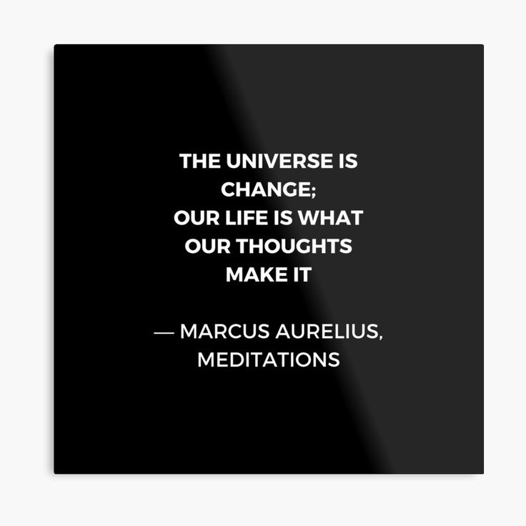 Stoic Wisdom Quotes – Marcus Aurelius Meditations – The universe is change | Metal Print
