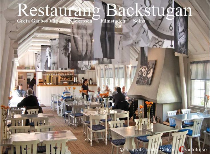 """from my exhibition """"Blowing in the wind"""" pictures on very thin Trevira voile at Restaurant Backstugan in The Film Town """"Filmstaden"""""""
