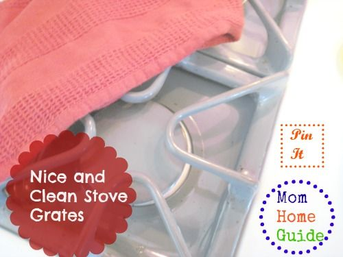 Clean greasy stove grates with very little scrubbing with Ziploc bags and ammonia. Easy!