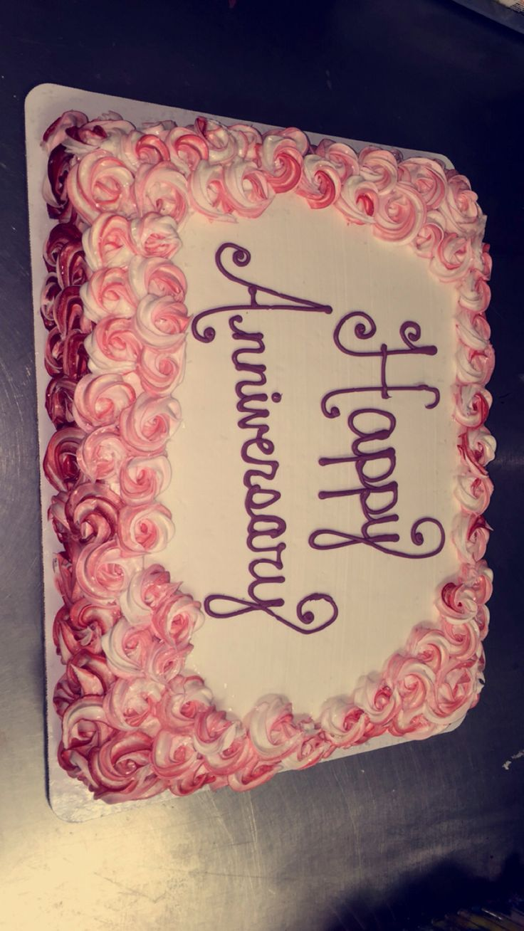 Anniversary Sheet Cake In 2019 Beautiful Birthday Cakes