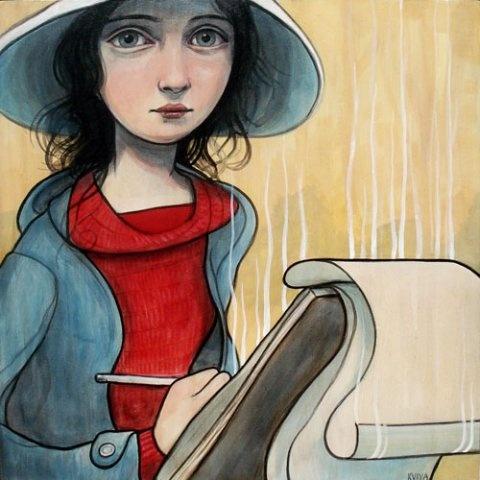 The Writer (artwork by Kelly Vivanco)