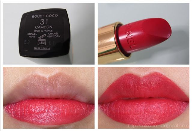 Chanel #31 Cambon Rouge Coco Tinted Red: Quick Review: Chanel Lip Products A  raspberry lip color