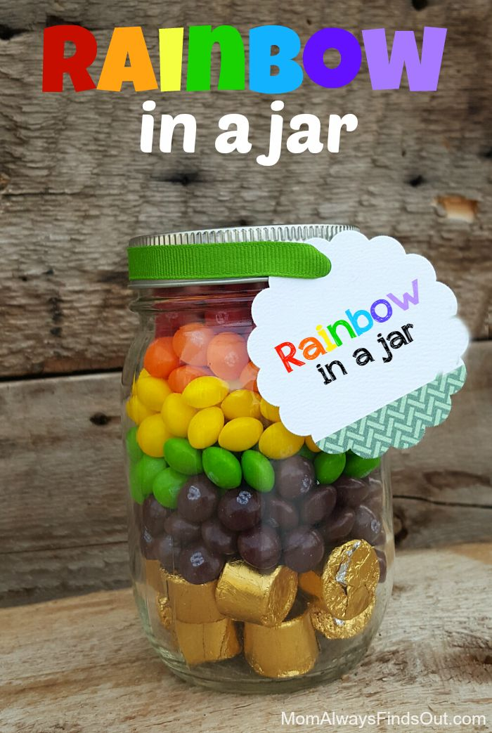 Rainbow in a Jar! DIY Gifts Crafts St. Patrick's Day Idea