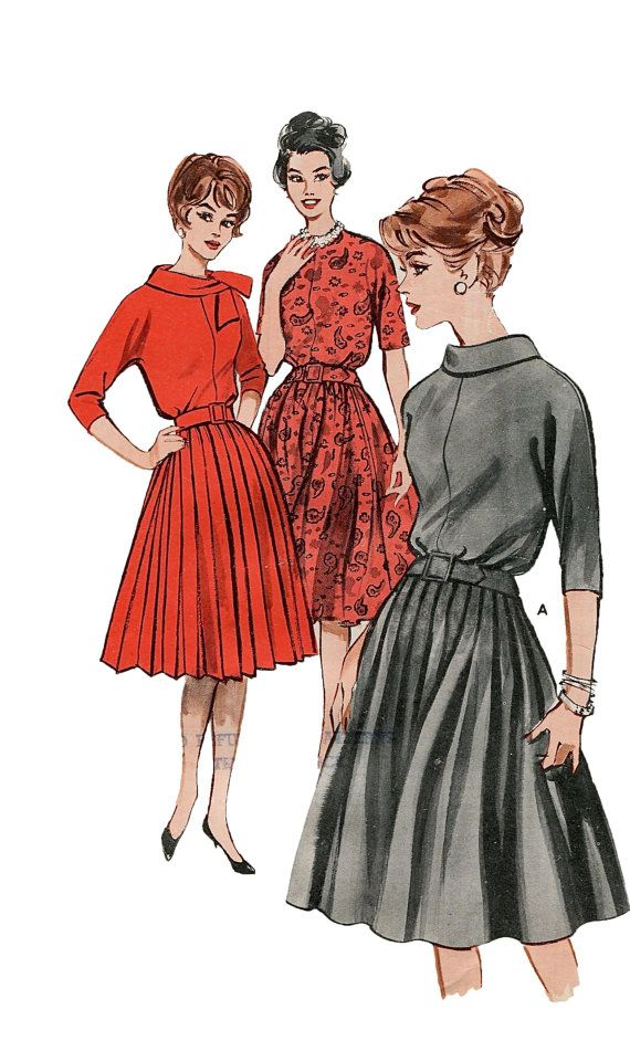 1950s s dress bias cut bodice pleated skirt cowl or