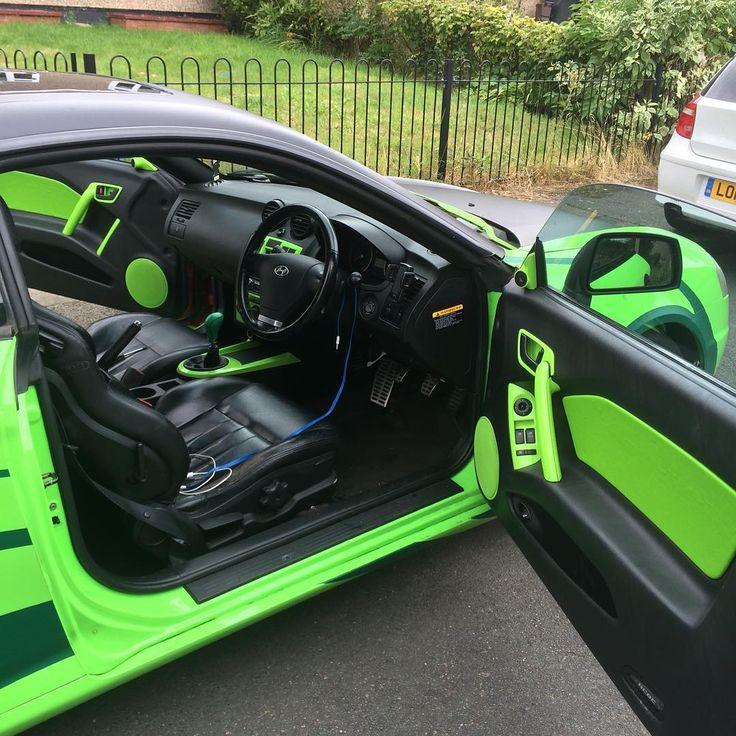 Hyundai Tiburon Tuscani Gt Lime Green And Black Interior Accents