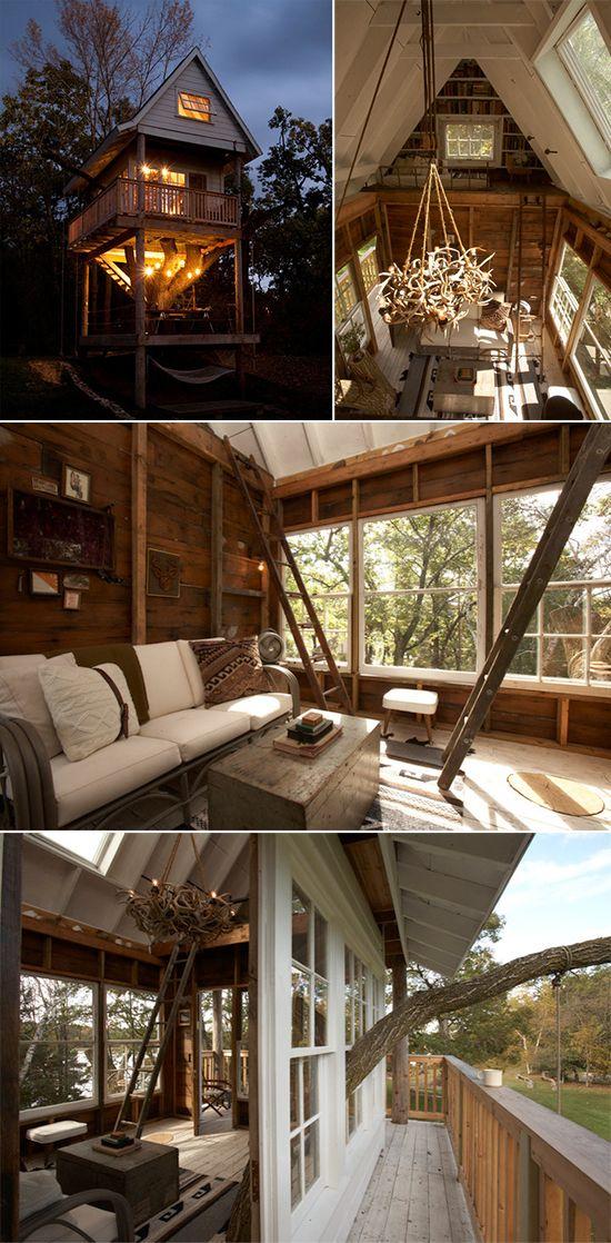 camp wandawega treehouse inspired to share - Treehouse Masters Interior
