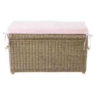 Spielzeugtruhe Rattan rosa - Pastel 140 euro