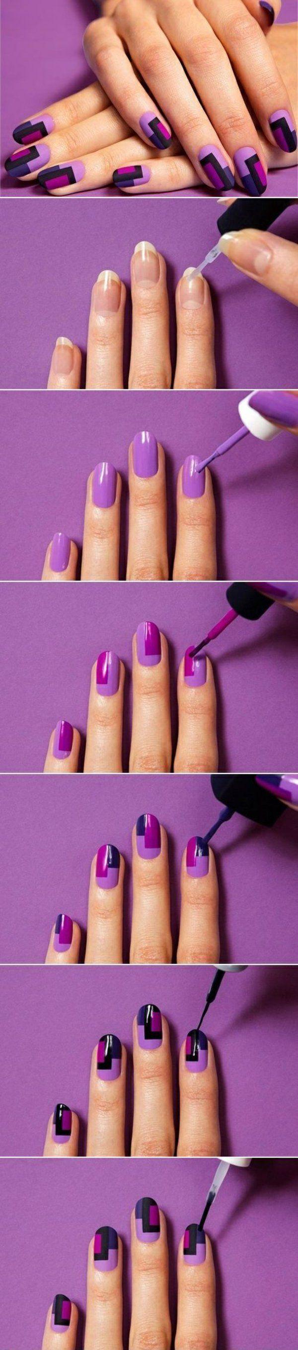 geometric pattern create simple nail design – #create #design #geometric #patter…