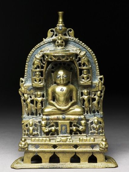 Shrine depicting the Tirthankara Kuntunatha Rajasthan, 1470