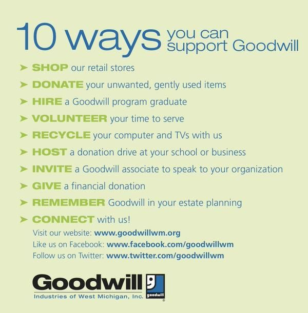 40 best goodwill of west michigan images on pinterest michigan we are dedicated to serving our community there are 10 ways to help us provide fandeluxe Gallery