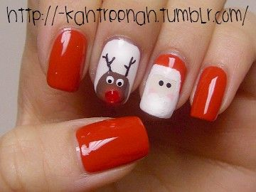 Holiday nails.