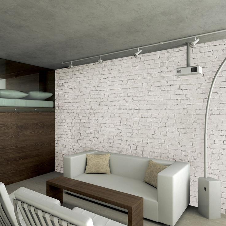 Loft Brick Wallpaper Mural | ACHICA