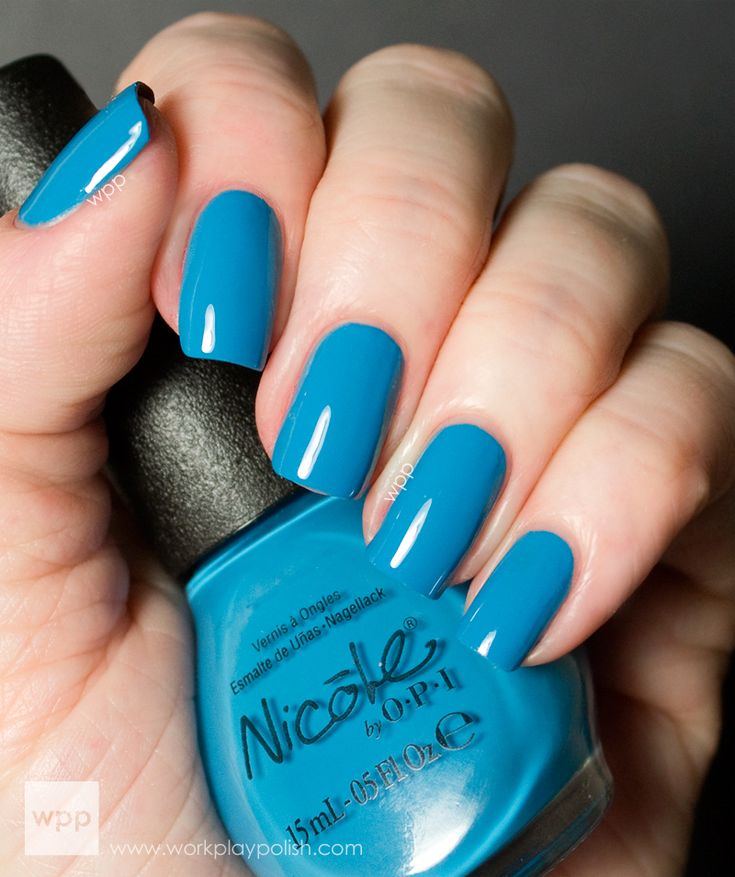 Facial blue nail polish