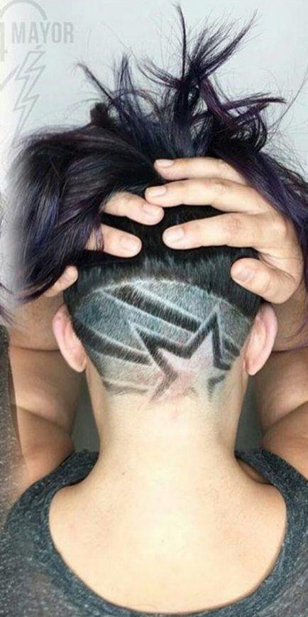 Super coupe de cheveux se décolore la nuque sous la coupe 65 + idées