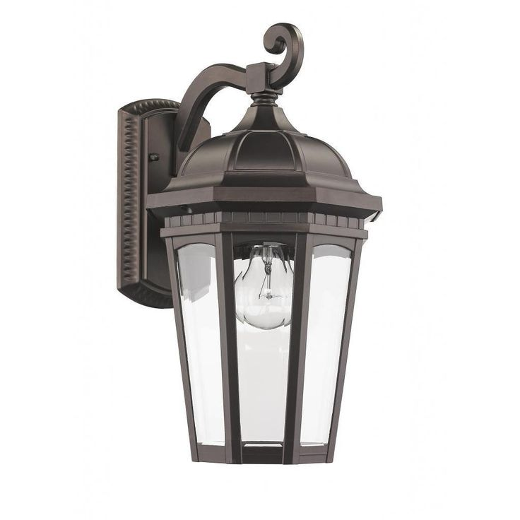 Chloe Transitional 1 Light Bronze Outdoor Wall Light Fixture