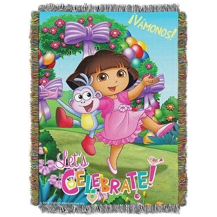 Dora the explorer celebrate dora tapestry throw multi