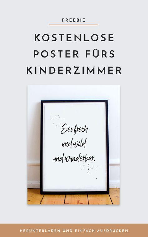 Poster fürs Kinderzimmer - kostenlos ausdrucken. Lindgren Zitate als ...