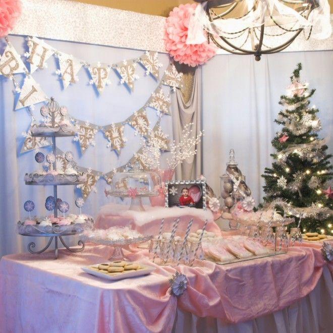 "Getting ideas for my niece's 1st birthday ""Winter ONEderland"""