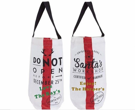 Christmas Wine Tote Christmas Wine Bag Travel Wine Carrier