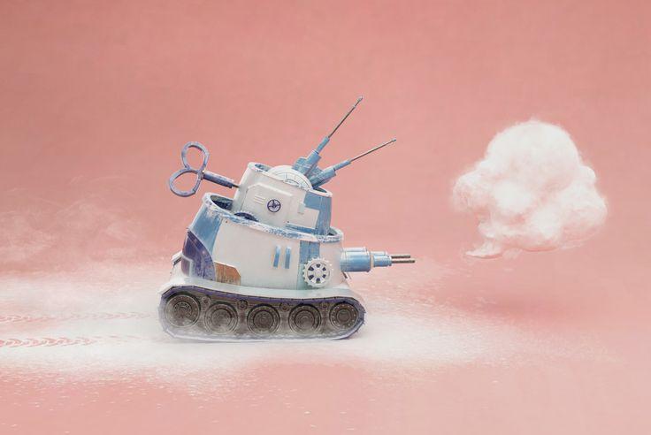 Cake Tank, Sandra Castela on ArtStation at https://www.artstation.com/artwork/DzE5E
