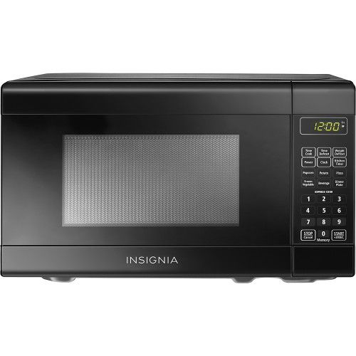 $66.99-20%?Bet Buy Insignia™ - 0.7 Cu. Ft. Compact Microwave - Black - Front Zoom