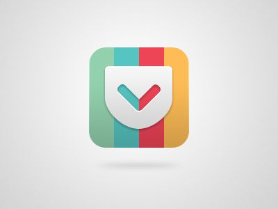 Pocket / Flat design / #flat #design #icon