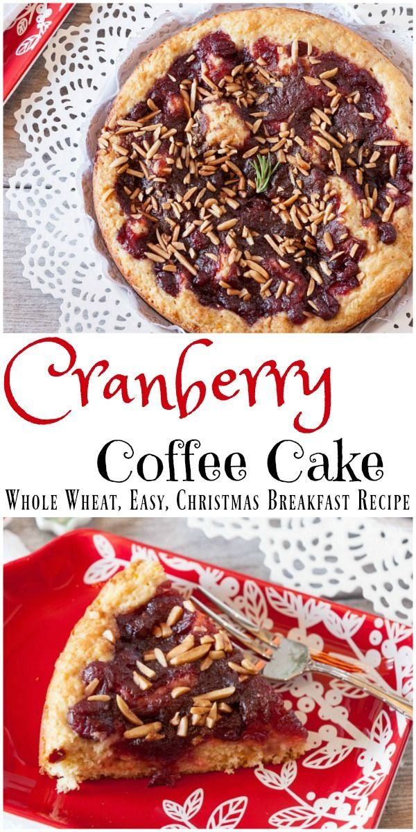 An easy, healthy coffee cake made with cranberries and oranges. Perfect for Christmas morning or a homemade gift