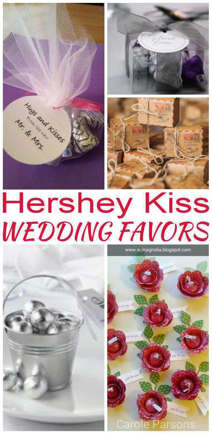 Wedding Favors The Best Hershey Kiss Candy Favor Ideas Choose From Goo Bag