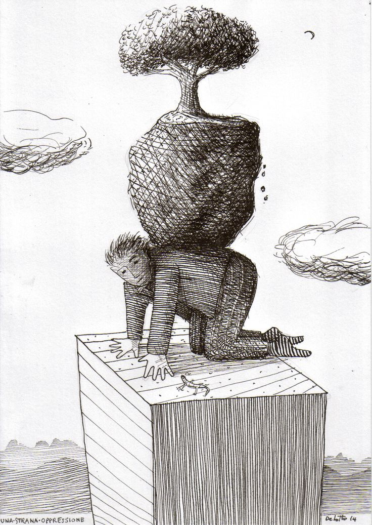 """""""a strange oppression""""  indian ink drawing             maurizio de lotto"""