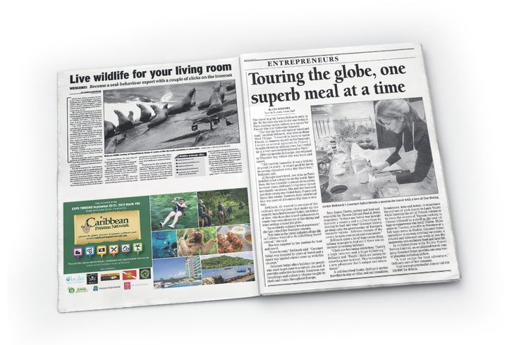 Caribbean Panama Network newspaper ad design