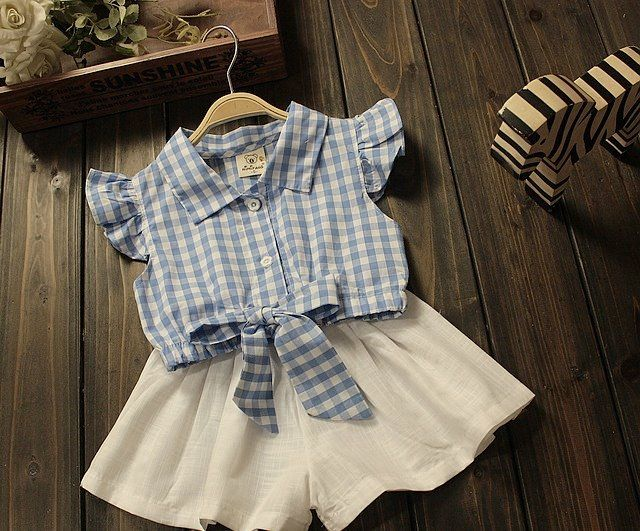 Adorable chic summer set for little ladies - Paris