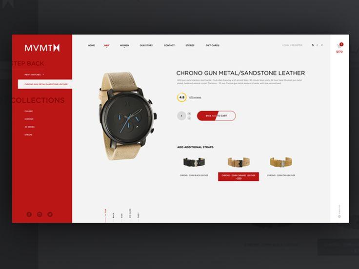 MVMT Watches e-commerce by Lukáš Oslzla