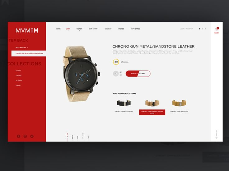 MVMT Watches e-commerce by Lukáš Oslzla
