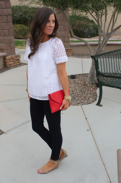 classic, simple, lace top, black pants, fall, spring