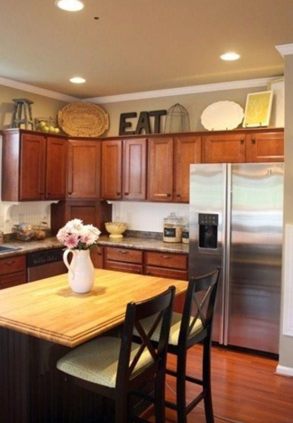 How To Decorate Above Kitchen Cabinets Home Design Kitchens Cabinetry Pinterest And Decor
