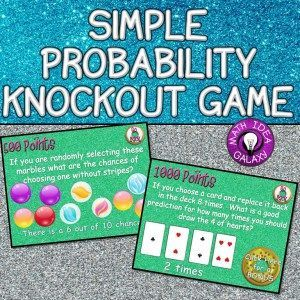 Check out this free game and 8 other activity ideas for simple probability activities that engage students!