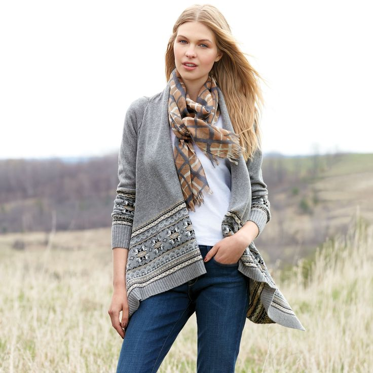 JESSICA®/MD Women's Fair Isle Open-Front Cardigan #SEARSBACK2CAMPUS