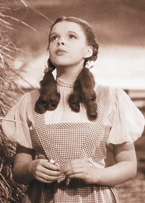 Judy Garland As Dorothy Gale Somewhere Over The Rainbow In The