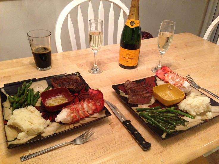 Steak and lobster dinner valentines day food ideas for Romantic meal ideas at home