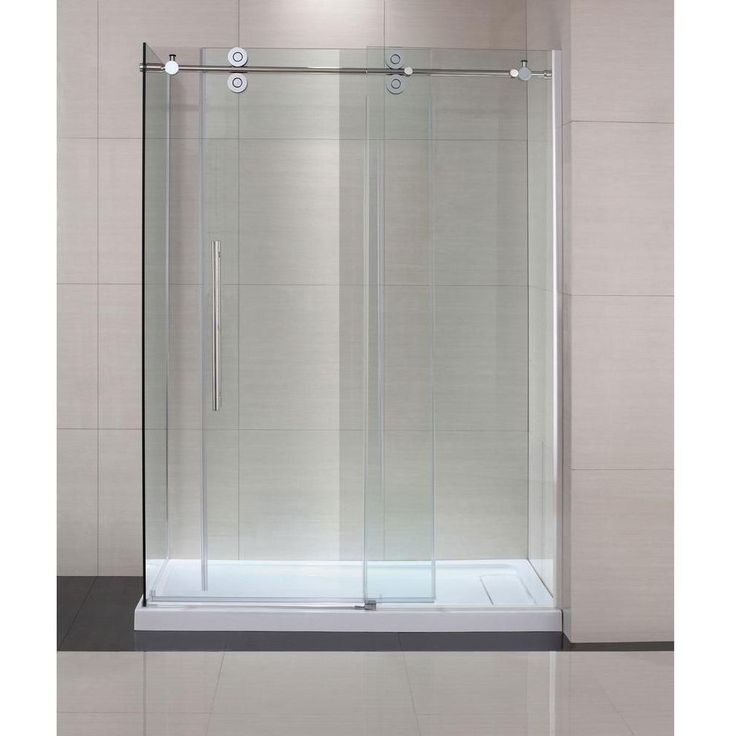 "Schon SC70019 Lindsay 60"" x 79"" Frameless Shower Enclosure with Sliding Glass Shower Door Chrome-eFaucets.com"