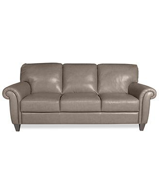 Arianna Leather Sofa Macy S About 1000 Comes Dark Brown