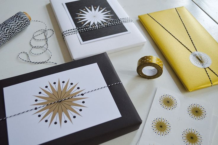 christmas cards + stickers by held&lykke - chritsmas wrapping