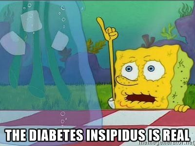 The Diabetes Insipidus is real!!