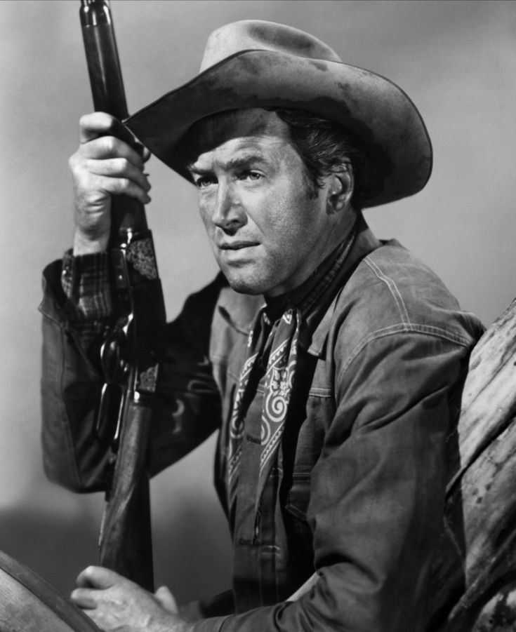 James Stewart in WINCHESTER '73  (1950). One of 5 westerns Stewart did with director Anthony Mann.