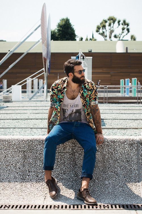 Hot Sandy. Similar look: Ralph Lauren Hawaiian Floral Shirt,...